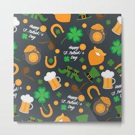 Saint Patrick's Day Pattern Metal Print