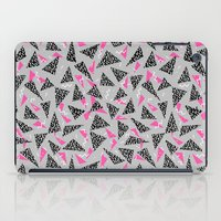 toddler iPad Cases featuring Trizza - triangle zig zag modern minimal trendy pattern print gender neutral non binary art for all by CharlotteWinter