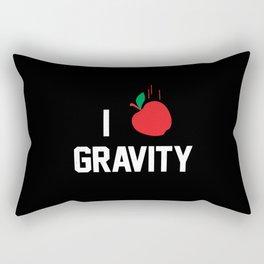 I heart Gravity Rectangular Pillow