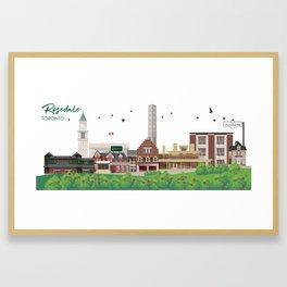 Rosedale - Toronto Neighbourhood Framed Art Print