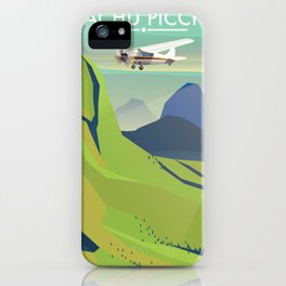 machu picchu travel poster iPhone Case