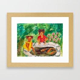 Allyson's Goldfish Framed Art Print