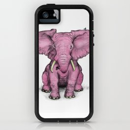 Pink Elephant and Roger iPhone Case
