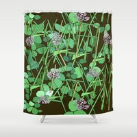 clover Shower Curtains featuring Clover by theRNDshop