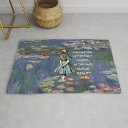 Water Lilies Magic - Alice In Wonderland Quote Rug