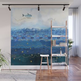 Sky Fish - Warming Oceans and Sea Level Rising Wall Mural