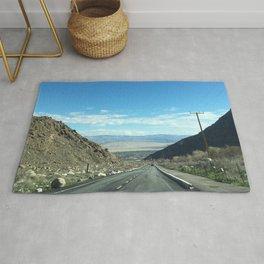Mountain Road in Palm Springs California Rug