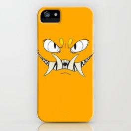 Yellow-Orange Monster iPhone Case
