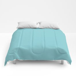Dark Pastel Blue Inspired by Coloro Purist Blue - Baby Blue 093-76-17 Comforters