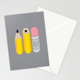 Deconstructed Pencil Stationery Cards