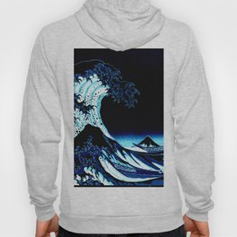 the Great Wave blue Hoody
