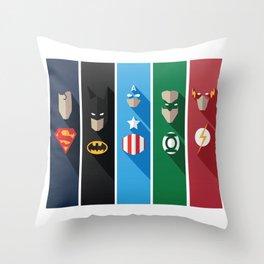 Comic Superheros No. 6-10 Throw Pillow