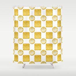 Savoury Biscuits Polka Dot Pattern Shower Curtain
