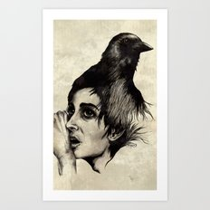 Trying  to forget my crow... Art Print