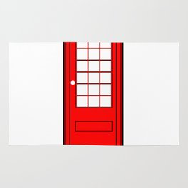 London Phone Booth Rug