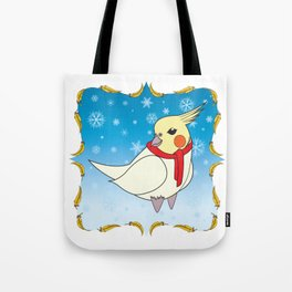 Holiday Cockatiel Tote Bag