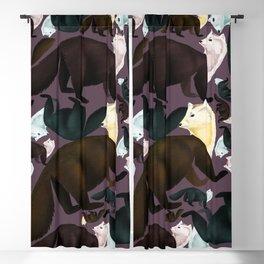 Sable Marten tropical  EggPlant Blackout Curtain