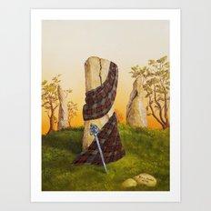 Through the stones Art Print