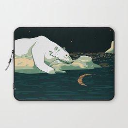 Polar Bear and the Moon Laptop Sleeve