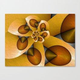 Rising, Modern Fractal Art Spiral Canvas Print