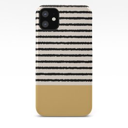 Texture - Black Stripes Gold iPhone Case