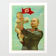 Trump Putin Art Print