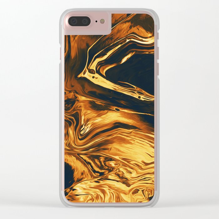 Gold Clear iPhone Case