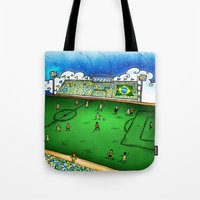 brasil Tote Bags featuring Brasil by Henrique Abreu