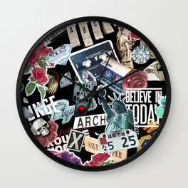 TRIP COLLAGE Wall Clock