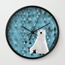 Polar Bear (in a hole in the ice) Wall Clock