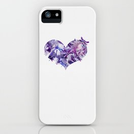Dragonfly Heart - Ultraviolet Purple iPhone Case