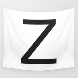 Letter Z Wall Tapestry