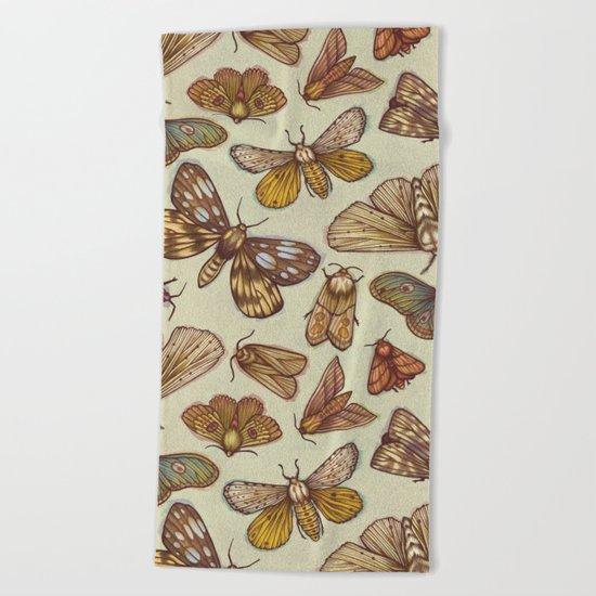 Moth Pattern Beach Towel