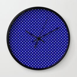 Blue and White Stars Wall Clock