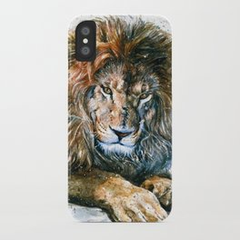 Lion Wild and Free iPhone Case