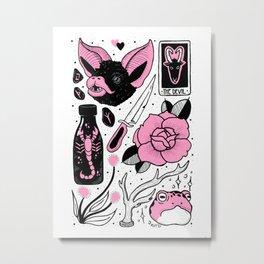 Pink Flash Page II Metal Print