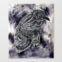 raven Canvas Prints featuring Raven by BIOWORKZ