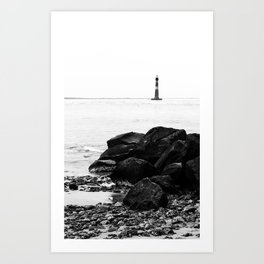 Morris Island Lighthouse Art Print