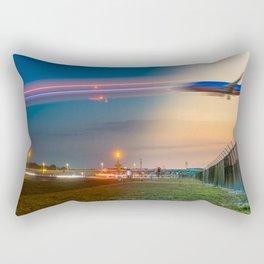 Time Traveling Machine Rectangular Pillow