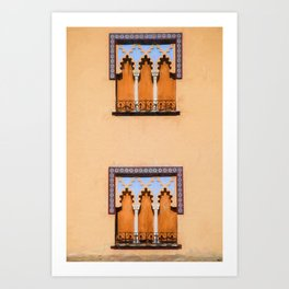 Dueling Windows of the Medieval Village of Cordoba Spain Art Print