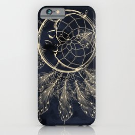 GOLDEN MOON IN DARK NIGHT iPhone Case