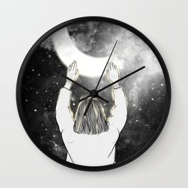 Touching the night. Wall Clock