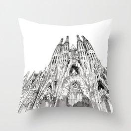 Bcn 2 Throw Pillow