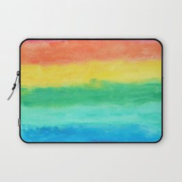 Colorful Watercolors Brush Strokes Laptop Sleeve