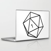 dungeons and dragons Laptop & iPad Skins featuring Fumble - Dungeons & Dragons for Dummies by oneeye01