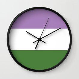 Genderqueer Flag Wall Clock
