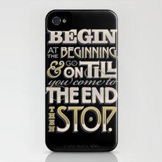 Begin at the Beginning iPhone (4, 4s) Slim Case