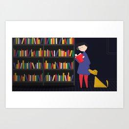Chasing Sparks - Books Art Print