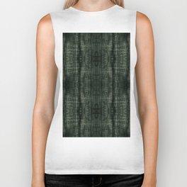 Green grunge cloth texture Biker Tank
