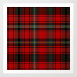 Christmas Tartan Plaid Art Print